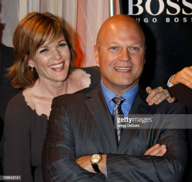 """Catherine Dent & Michael Chiklis of """"The Shield"""" during Hugo Boss Celebrates The Re-Opening Of Their Rodeo Drive Store at Hugo Boss Store in Beverly..."""