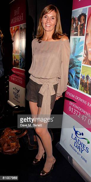 Catherine Dettori attends the launch party for the Derby Festival 2008 at Gaucho on May 6 2008 in London England