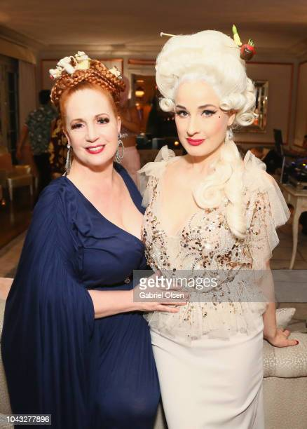 Catherine D'lish and Dita Von Teese attend the birthday celebration of Dita Von Teese at the private residence of Jonas Tahlin CEO Of Absolut Elyx on...