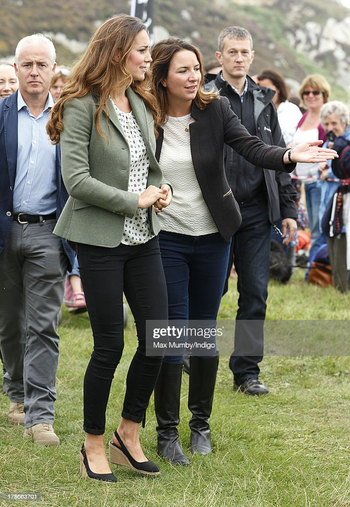 The Duke And Duchess Of Cambridge Start The Ring O'Fire Anglesey Coastal Ultra Marathon : News Photo