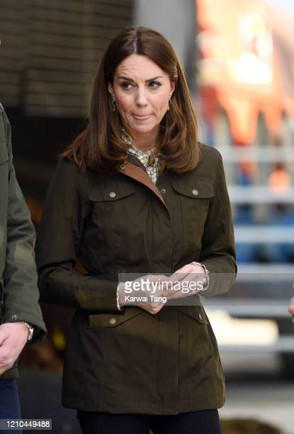 Catherine, Duchess of Cambridge accompanied by Prince William, Duke of Cambridge visits Teagasc Research Farm on day two of their Royal tour of...