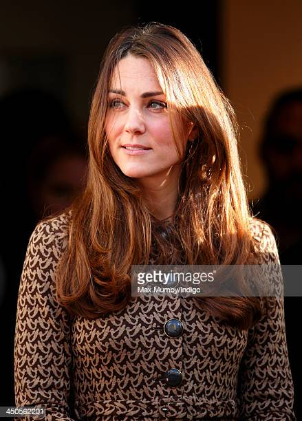Catherine Duchess of Cambridge accompanied by Prince William Duke of Cambridge visits Only Connect and exoffenders projects on November 19 2013 in...