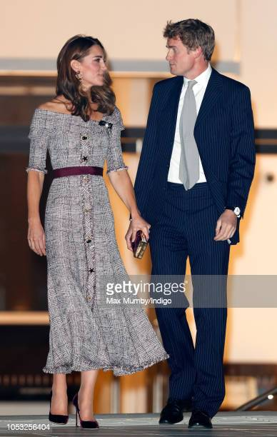 Catherine Duchess of Cambridge accompanied by VA Director Tristram Hunt attends the opening of the VA Photography Centre at the Victoria Albert...