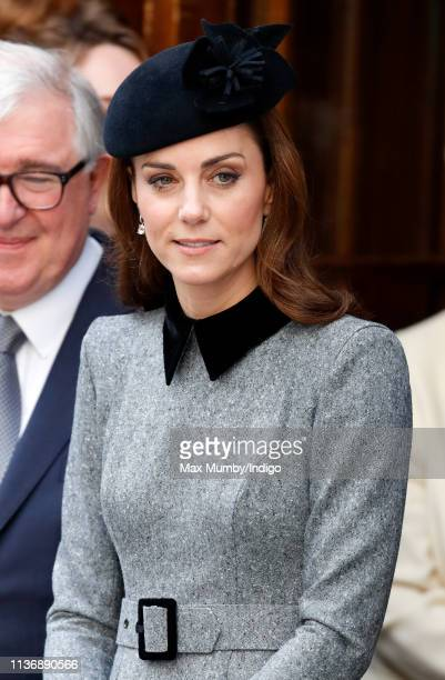 Catherine, Duchess of Cambridge accompanies Queen Elizabeth II on a visit to King's College London to officially open Bush House, the latest...