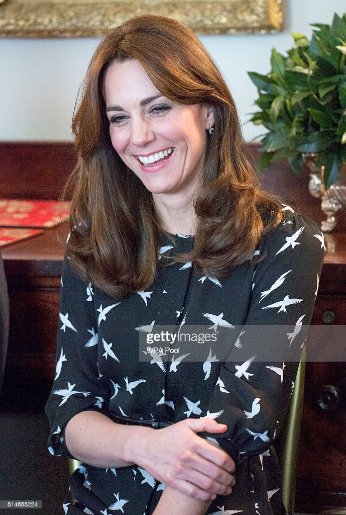 Catherine, Duchess of Cambridge along with Prince William, Duke of Cambridge met with Jonny Benjamin and Neil Laybourn at Kensington Palace when they dropped in on a screening of a documentary about Jonny's experience and the #FindMike campaign on March 10, 2016 in London, United Kingdom. Jonny regularly attends screenings with young people as a way to encourage open discussion of mental health issues. Around 20 young people from a South London school watched the screening at Kensington Palace and then took part in a discussion, led by Jonny, Neil and Rethink Mental Illness. The children taking part in the session are from a school where Jonny has previously delivered his ThinkWell project.