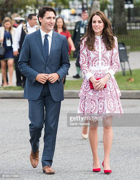 Catherine, Duchess of Cambridge and Canadian Prime Minister Justin Trudeau visit the Canadian Coast Guard and Vancouver First Responders event at...