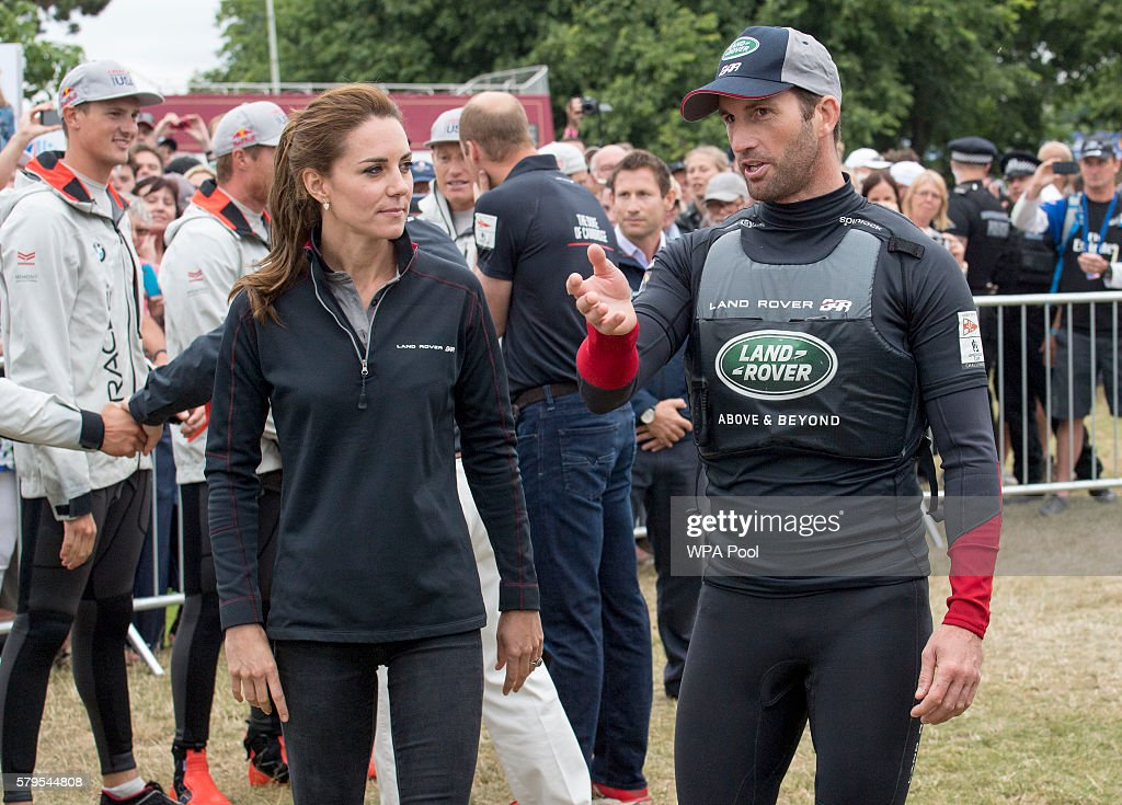 Duke And Duchess Of Cambridge At America's Cup World Series : News Photo