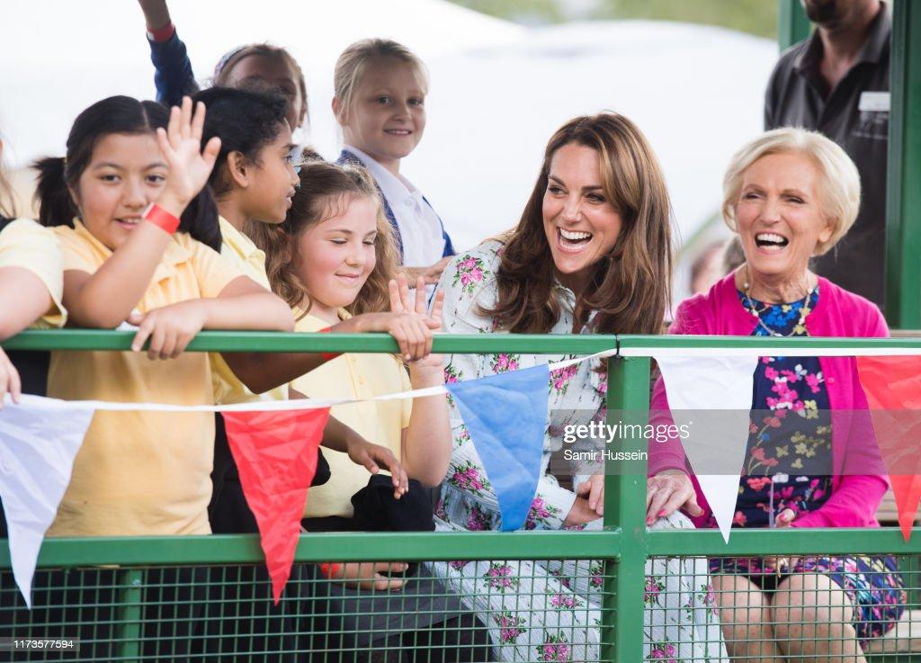 "The Duchess Of Cambridge Attends ""Back to Nature"" Festival : Nachrichtenfoto"
