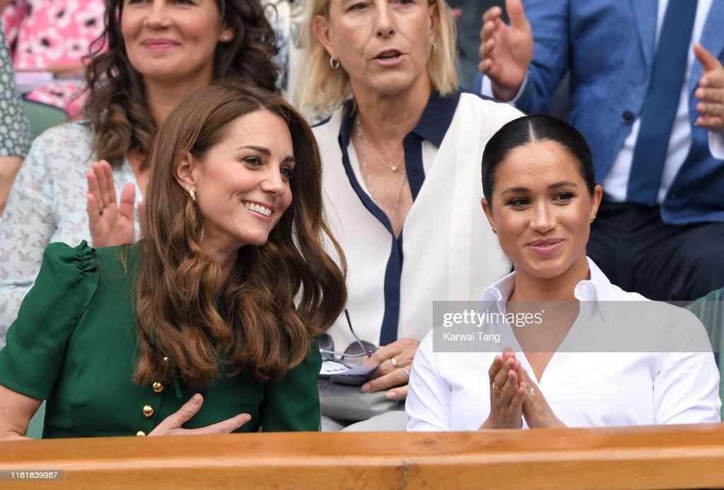 Celebrities Attend Wimbledon 2019 : Nieuwsfoto's