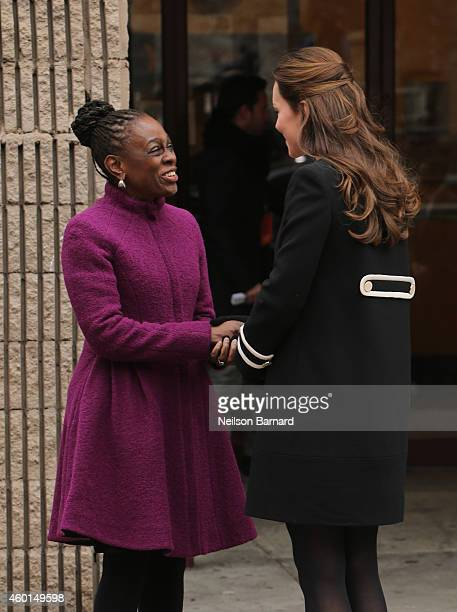 Catherine Duchess of Cambridge and New York City Mayor Bill de Blasio's wife Chirlane McCray meet at Northside Center for Child Development on...
