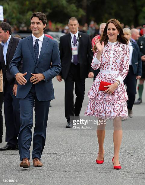 Catherine Duchess of Cambridge and Prime Minister Justin Trudeau visit the Canadian Coast Guard and Vancouver First Responders Event at Kitsilano...