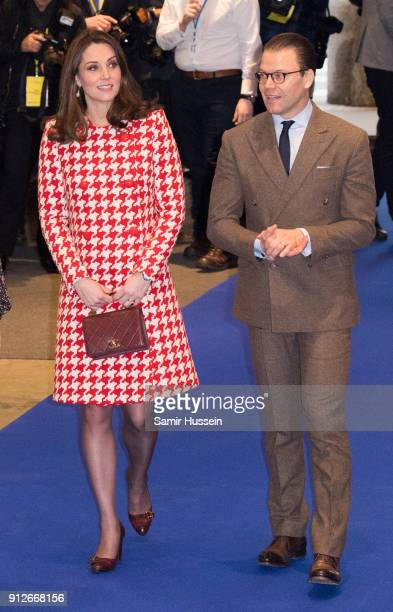 Catherine Duchess of Cambridge and Prince Daniel of Sweden visit one of Sweden's leading department stores NK during day two of their Royal visit to...