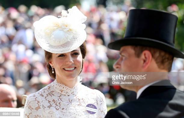 Catherine Duchess of Cambridge and Prince Edward Earl of Wessex attend Royal Ascot 2017 at Ascot Racecourse on June 20 2017 in Ascot England