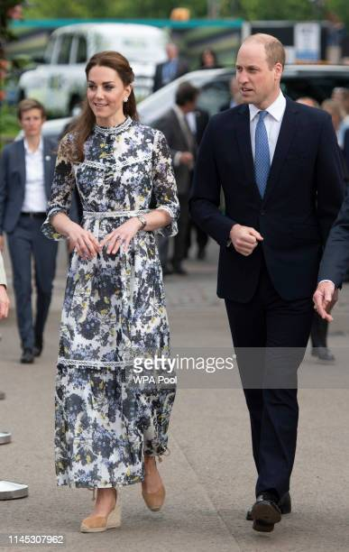Catherine, Duchess of Cambridge and Prince William at the RHS Chelsea Flower Show 2019 press day at Chelsea Flower Show on May 20, 2019 in London,...