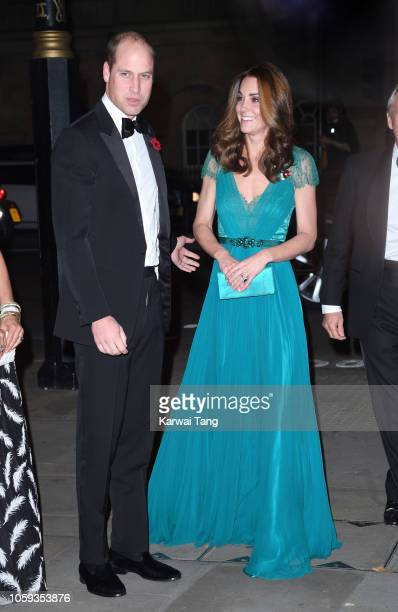 Catherine, Duchess of Cambridge and Prince William, Duke of Cambridge attend the Tusk Conservation Awards at Banqueting House on November 8, 2018 in...