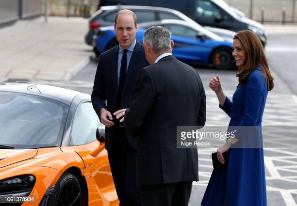 Catherine Duchess Of Cambridge and Prince William Duke of Cambridge visit McLaren Automotive Composites Technology Centre on November 14 2018 in...
