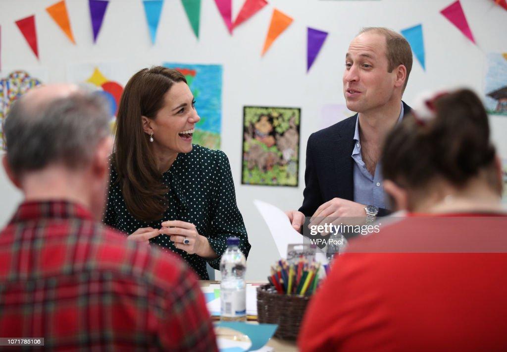 The Duke & Duchess Of Cambridge Visit Evelina London And The Passage : News Photo