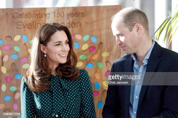 Catherine Duchess of Cambridge and Prince William Duke of Cambridge during a visit to Evelina London Children's Hospital on December 11 2018 in...
