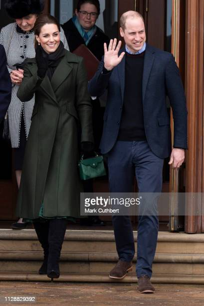 Catherine Duchess of Cambridge and Prince William Duke of Cambridge visit the iconic Blackpool Tower and meet members of the public gathered outside...