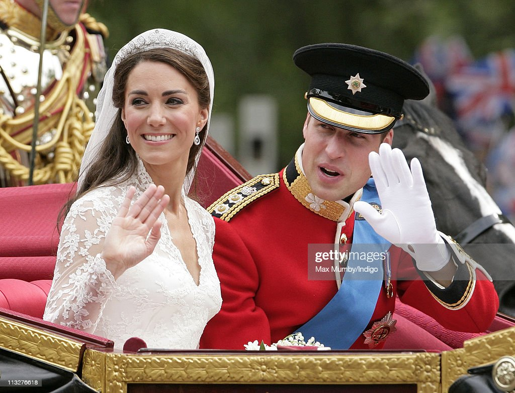 Newlywed Royals Leave Wedding Reception : News Photo
