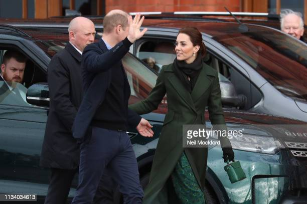 Catherine, Duchess of Cambridge and Prince William, Duke of Cambridge visit Blackpool Tower on March 06, 2019 in Blackpool, England.
