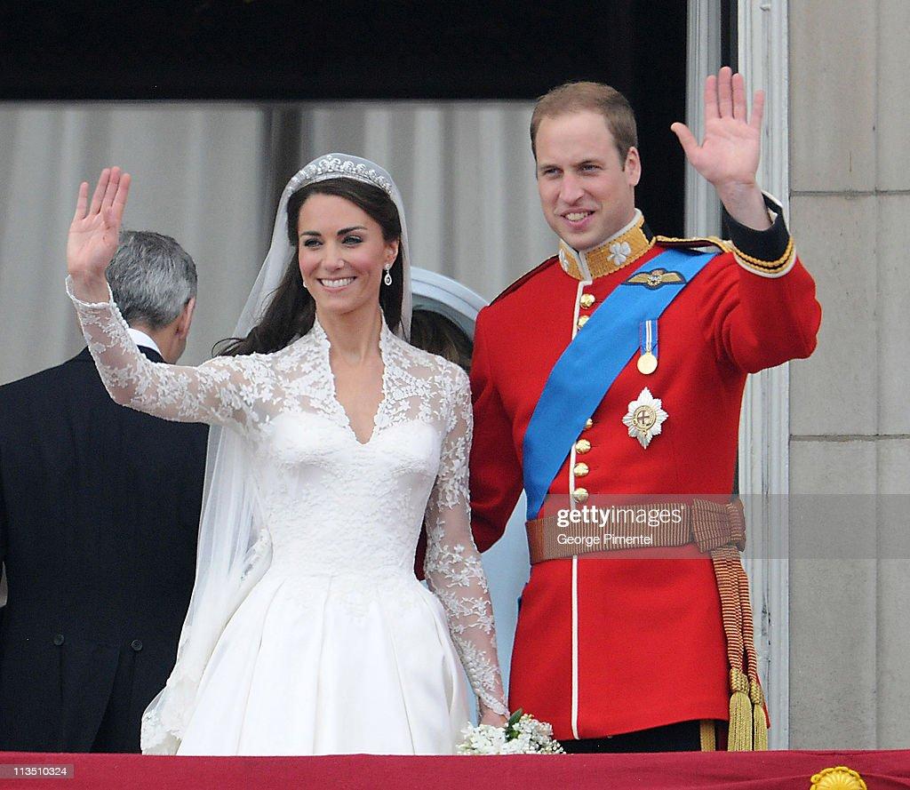 The Wedding of Prince William with Catherine Middleton - Buckingham Palace Balcony : News Photo