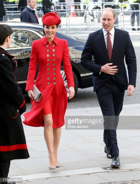 Catherine Duchess of Cambridge and Prince William Duke of Cambridge attend the Commonwealth Service on Commonwealth Day at Westminster Abbey on March...
