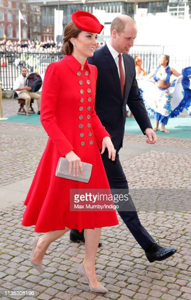 Catherine, Duchess of Cambridge and Prince William, Duke of Cambridge attend the 2019 Commonwealth Day service at Westminster Abbey on March 11, 2019...