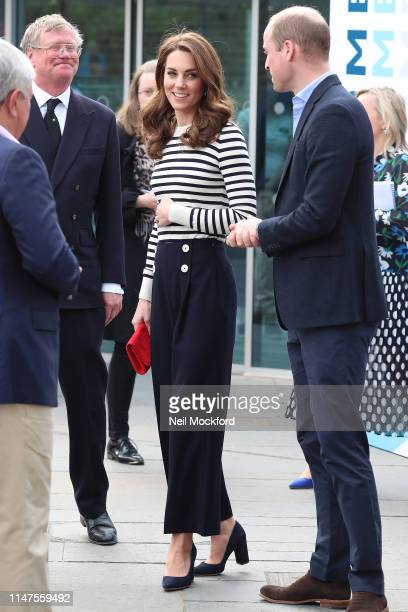 Catherine, Duchess of Cambridge and Prince William, Duke of Cambridge meet members of the public after the launch of The King's Cup Regatta at the...