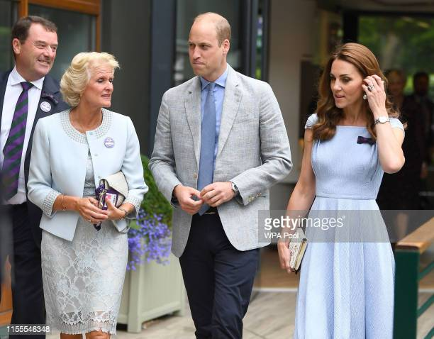Catherine, Duchess of Cambridge and Prince William, Duke of Cambridge arrive the Men's Singles Final on day thirteen of the Wimbledon Championships...