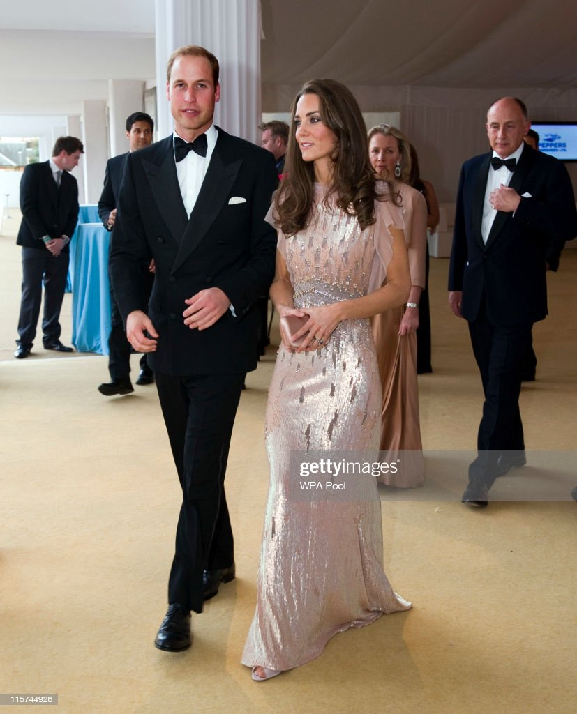 Catherine, Duchess of Cambridge and Prince William, Duke of Cambridge arrive at the ARK 10th Anniversary Gala Dinner at Perk's Field on June 9, 2011 in London, England.