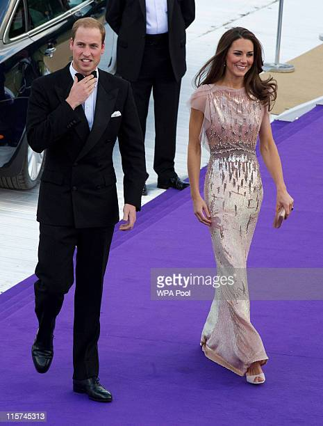 Catherine, Duchess of Cambridge and Prince William, Duke of Cambridge arrive at the ARK 10th Anniversary Gala Dinner at Perk's Field on June 9, 2011...