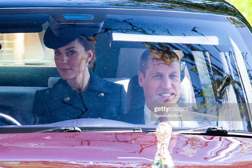 Royal Family Members Attend Crathie Kirk Church : News Photo