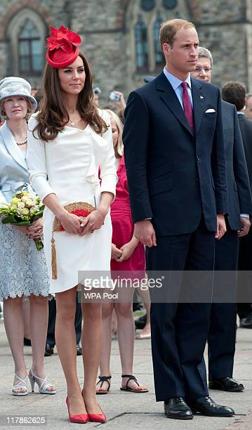 Catherine, Duchess of Cambridge and Prince William, Duke of Cambridge attend Canada Day Celebrations at Parliament Hill on day 2 of the Royal...