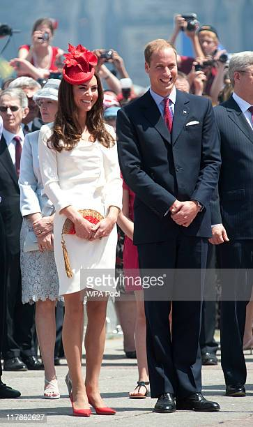 Catherine Duchess of Cambridge and Prince William Duke of Cambridge attend Canada Day Celebrations at Parliament Hill on day 2 of the Royal Couple's...