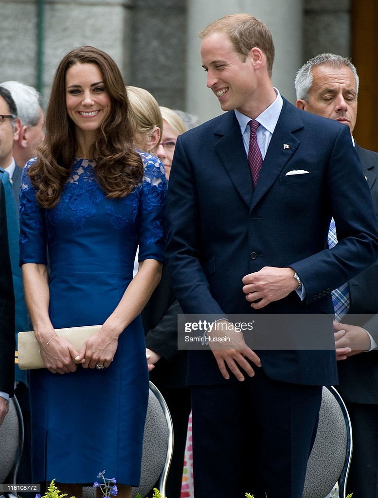 Catherine, Duchess of Cambridge and Prince William, Duke of Cambridge attend a Freedom of the City Ceremony outside City Hall on day 4 of the Royal Couple's North American Tour, July 3, 2011 in Quebec, Canada.