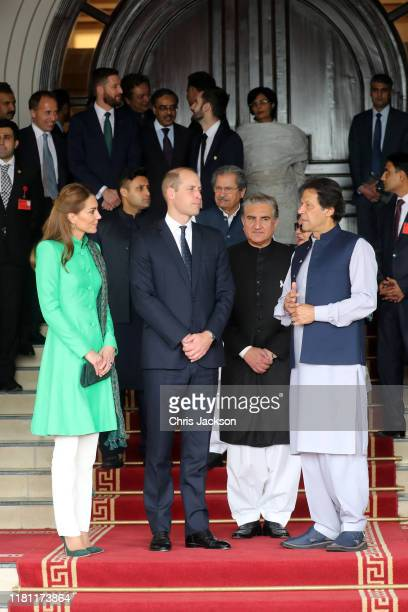 Catherine, Duchess of Cambridge and Prince William, Duke of Cambridge leave after meeting Pakistan's Prime Minister Imran Khan at his official...