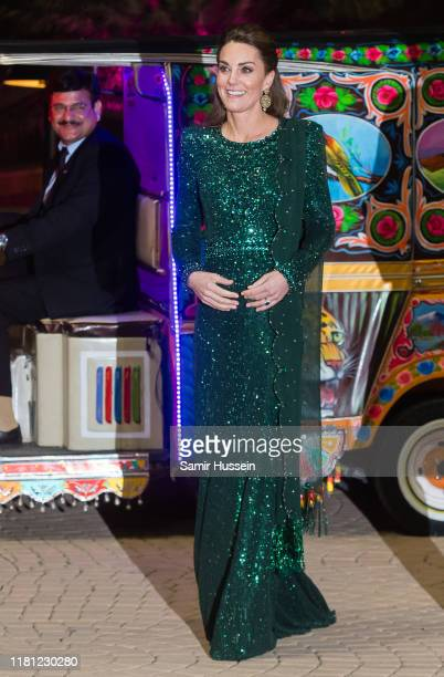 Catherine, Duchess of Cambridge and Prince William, Duke of Cambridge arrive by Tuk Tuk as they attend a special reception hosted by the British High...
