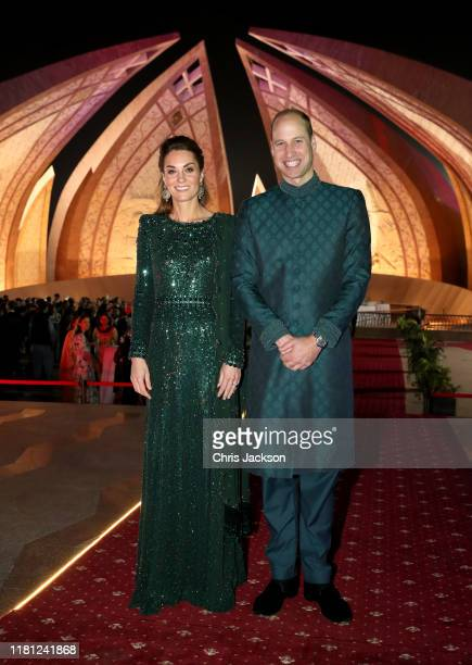 Catherine Duchess of Cambridge and Prince William Duke of Cambridge pose as they attend a special reception hosted by the British High Commissioner...