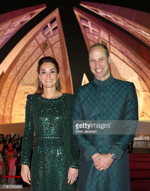 Catherine, Duchess of Cambridge and Prince William, Duke of Cambridge pose as they attend a special reception hosted by the British High Commissioner...