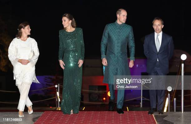 Catherine Duchess of Cambridge and Prince William Duke of Cambridge attend a special reception hosted by the British High Commissioner Thomas Drew...
