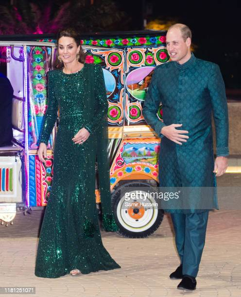 Catherine Duchess of Cambridge and Prince William Duke of Cambridge attend a special reception hosted by the British High Commissioner Thomas Drew at...