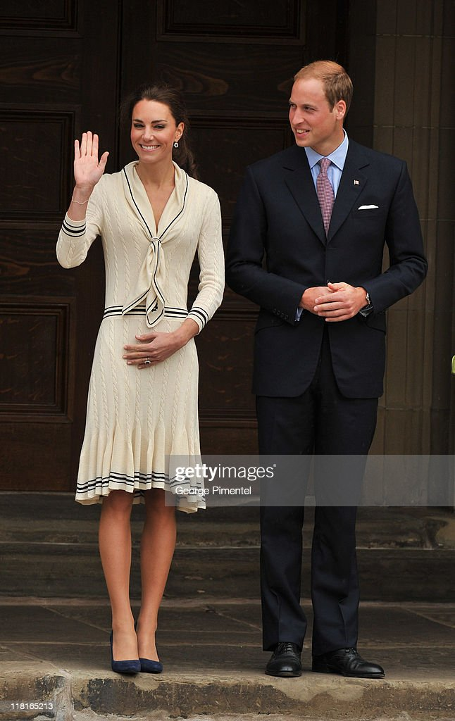 Catherine, Duchess of Cambridge and Prince William, Duke of Cambridge visit the Province House on July 4, 2011 in Charlottetown, Canada.