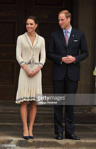 Catherine Duchess of Cambridge and Prince William Duke of Cambridge visit the Province House on July 4 2011 in Charlottetown Canada