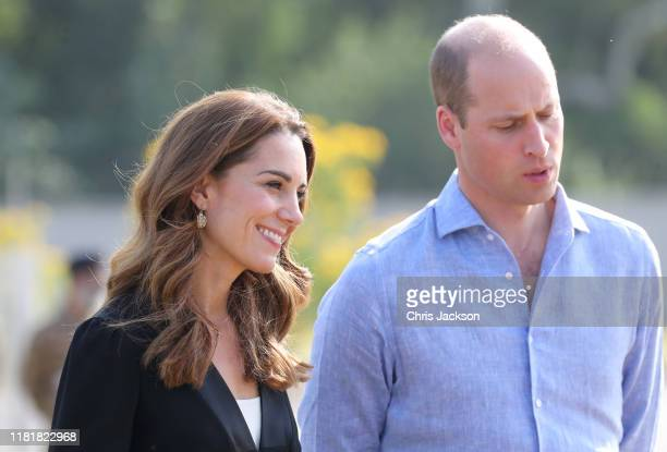 Catherine Duchess of Cambridge and Prince William Duke of Cambridge as they visit an Army Canine Centre where the UK provides support to a programme...