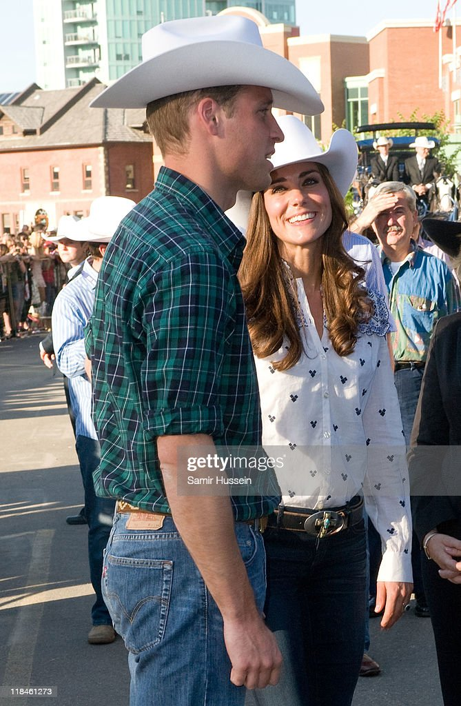 Catherine, Duchess of Cambridge and Prince William, Duke of Cambridge arrive at a Government Reception at the BMO Centre on day 8 of the Royal couple's tour of North America on July 7, 2011 in Calgary, Canada.