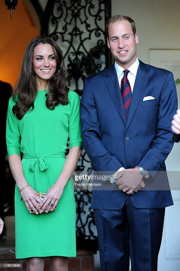 The Duke and Duchess of Cambridge Consul General Reception : News Photo