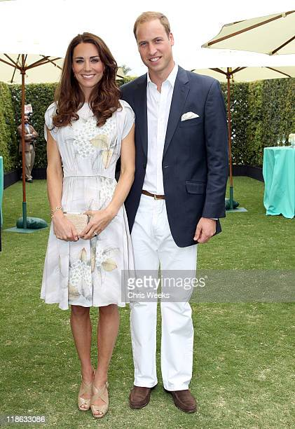 Catherine Duchess of Cambridge and Prince William Duke of Cambridge attend The Foundation Polo Challenge sponsored by Tiffany Co at the Santa Barbara...