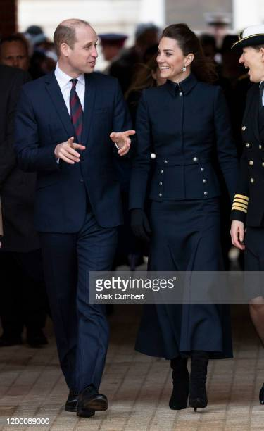 Catherine, Duchess of Cambridge and Prince William, Duke of Cambridge visit the Defence Medical Rehabilitation Centre Stanford Hall to meet patients...