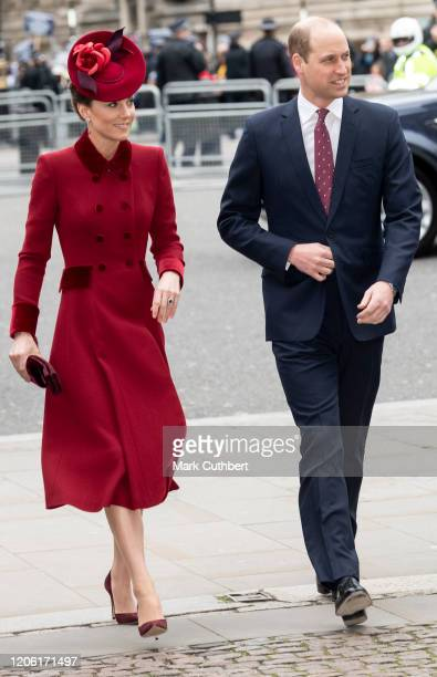 Catherine, Duchess of Cambridge and Prince William, Duke of Cambridge attend the Commonwealth Day Service 2020 at Westminster Abbey on March 9, 2020...